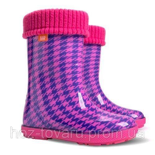 Резиновые сапоги DEMAR HAWAI LUX PRINT hf (Пепита розовая)