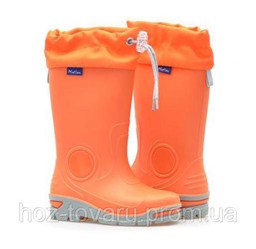 Резиновые сапоги Muflon 23-487 (оранжевые) 21-22
