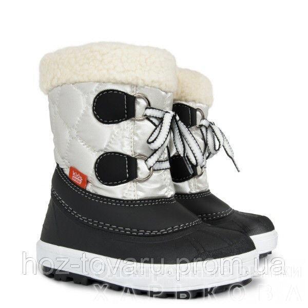 Сапоги Demar FURRY c (белые) - Зимняя детская и подростковая обувь на рынке  Барабашова ff729b5c7922d