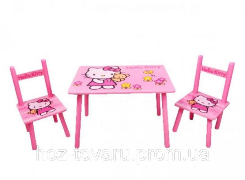 Столик M 0293 Китти, деревянный, 2 стульчика