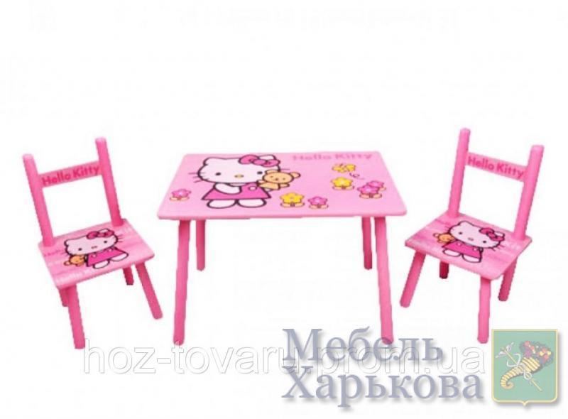 Столик M 0293 Китти, деревянный, 2 стульчика - Парты детские в Харькове