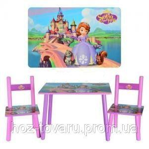 Столик M 2261 SF, деревянный, 2 стульчика