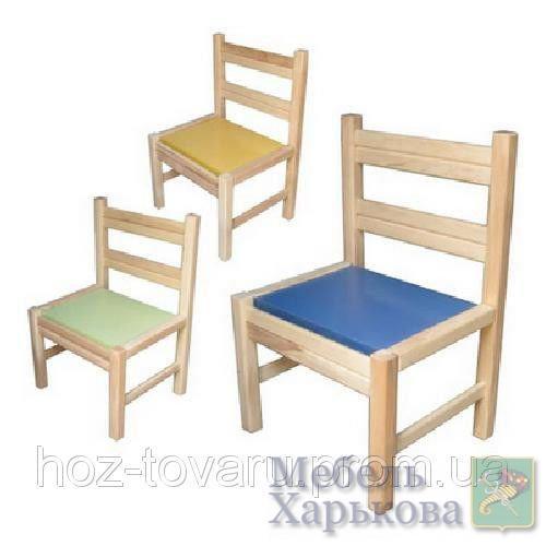 Стульчик детский 171886 для  дет сада-неразборный ольховый ТМ Дерево - Детские стульчики и табуретки в Харькове