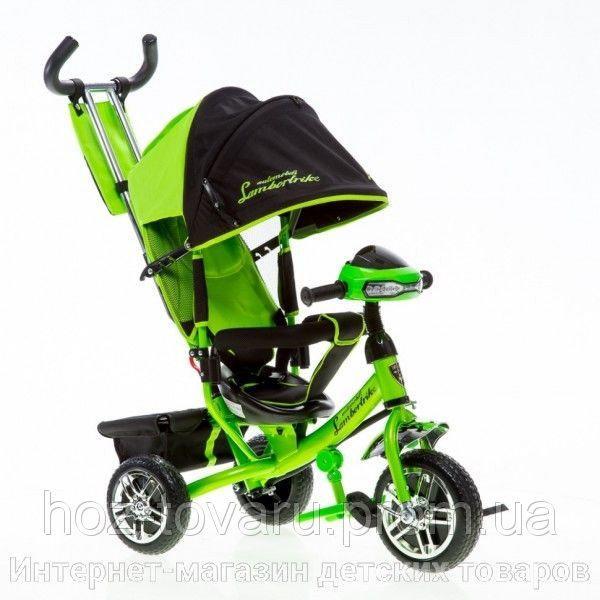 Трехколесный велосипед Azimut Lamborghini с фарой (колёса надувные)