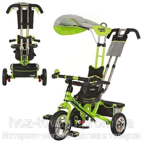 Трехколесный детский велосипед М 5378, надувное колесо (3 цвета)