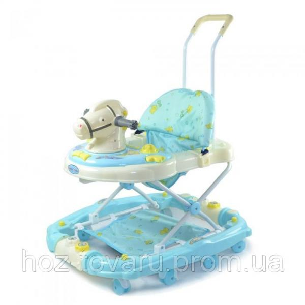 Ходунки Baby Tilly 683 Y GREEN, Blue лошадка (2 цвета)