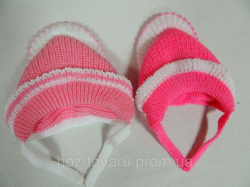Шапочки вязанные для новорожденного до 2-х месяцев