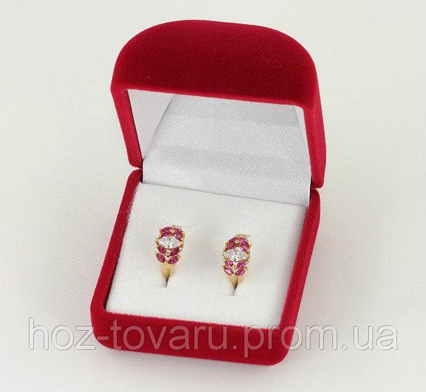 Бархатная подарочная коробочка (900150) Красные