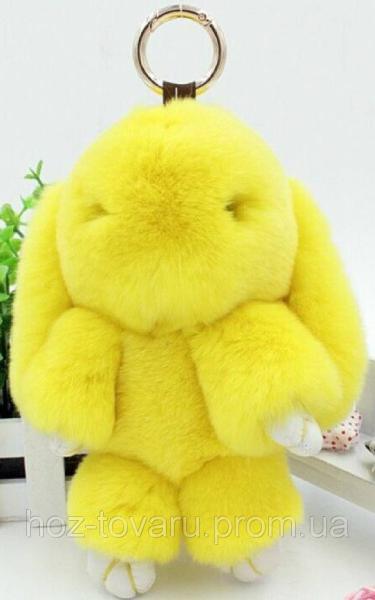 Кролик подвеска из натурального меха (Желтый)