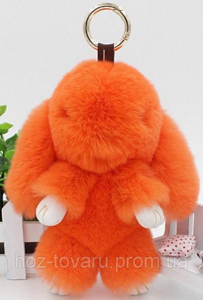 Кролик подвеска из натурального меха (Оранжевый)