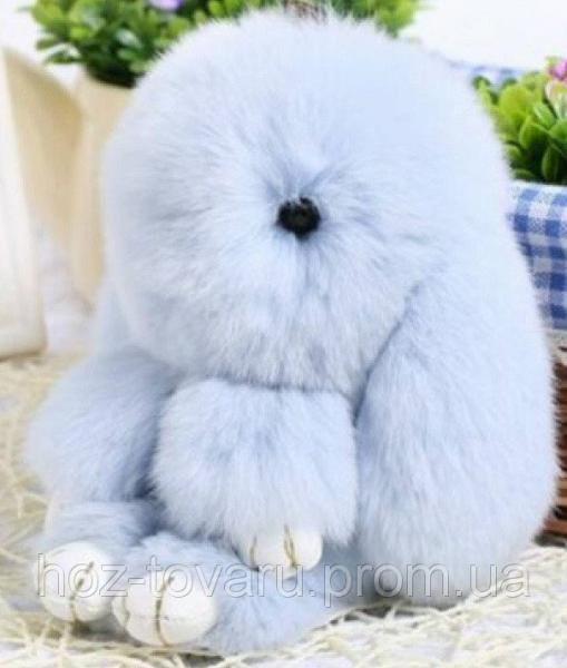 Кролик подвеска из натурального меха (Светло-голубой)