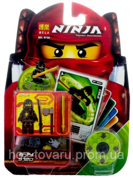 "Конструктор Лего ""Ниндзяго"". Bela Ninja Thunder Swordsman. Фигурка COLE (9720)"