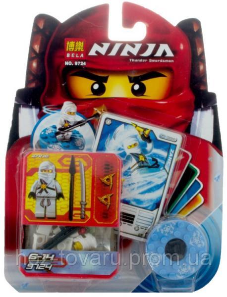 """Конструктор Лего """"Ниндзяго"""". Bela Ninja Thunder Swordsman. Фигурка ZANE (9724)"""
