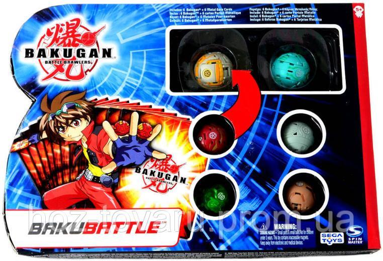Набор Bakugan Battle Brawlers Bakubattle 6 в 1 (3,2см) (61322)