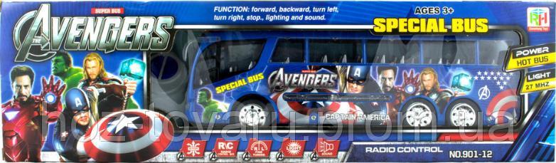 """Автобус """"Мстители"""" на радиоуправлении. Super special bus """"Avengers"""" Captain America  (901-12)"""