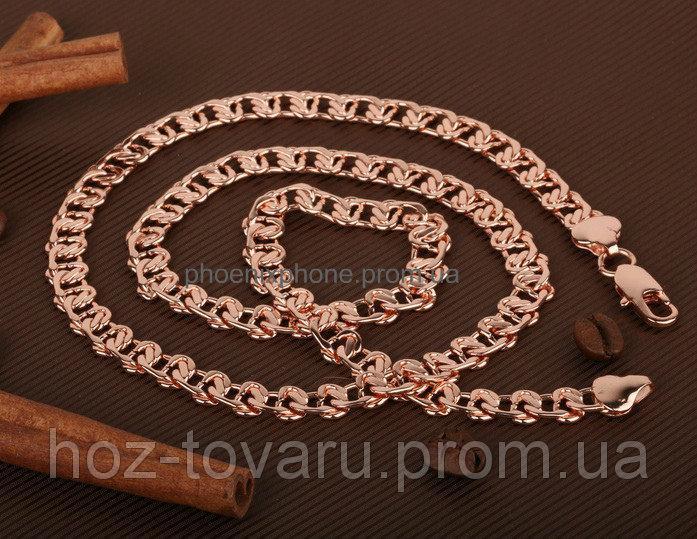 Стильная, классическая цепочка, покрытая слоями золота (40085)