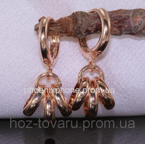 Серьги в очаровательном дизайне, покрытые золотом (20366)