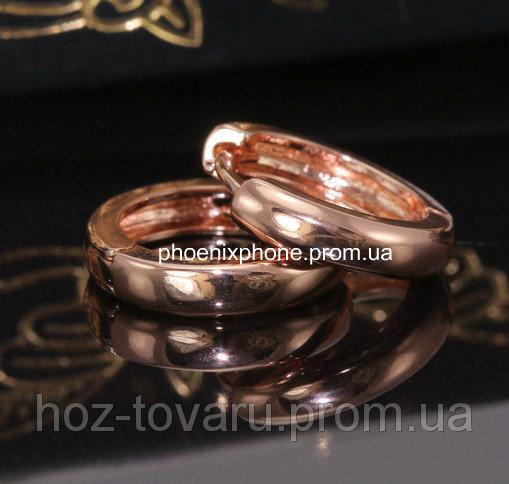 Серьги в стильном исполнении, покрытые золотом (25094)