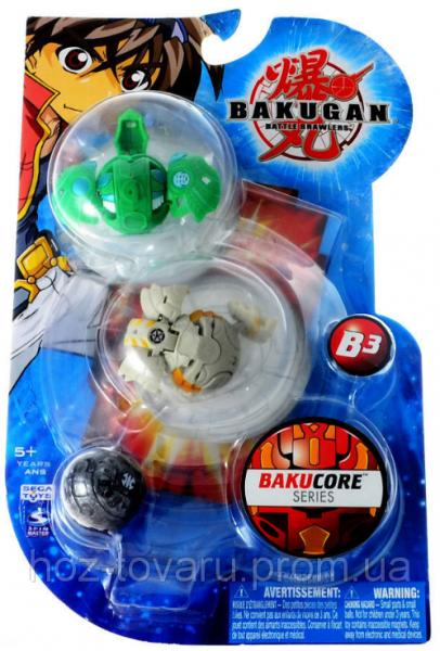 Оригинальный набор Bakugan Battle Brawlers Bakucore Series B3: 3 в 1 (3.2 см) (61321 B3)