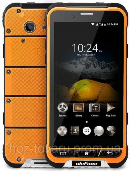 "Ulefone Armor black-orange IP68 3/32 Gb, 4.7"", MT6753, 3G, 4G"