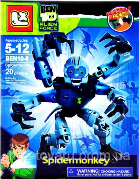 """Лего-фигурка Spidermonkey """"Ben 10 Alien Force"""" (BEN10-8-1)"""