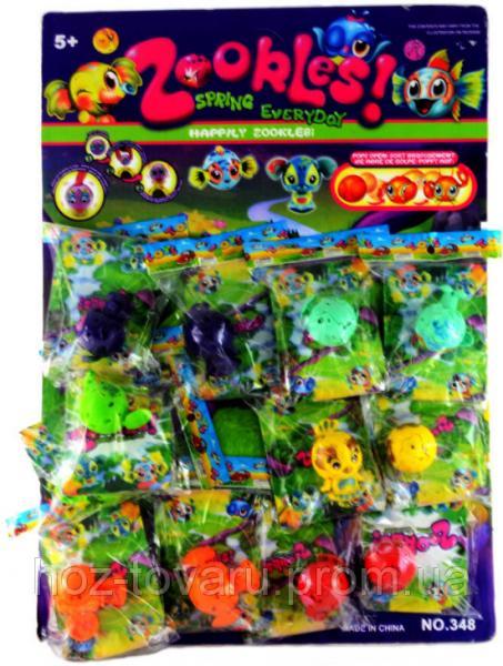 """Зублс планшет 12 в 1. Фигурки 5 см и карточки из серии Zoobles Spring Everyday """"Happily Zookles"""" (348)"""