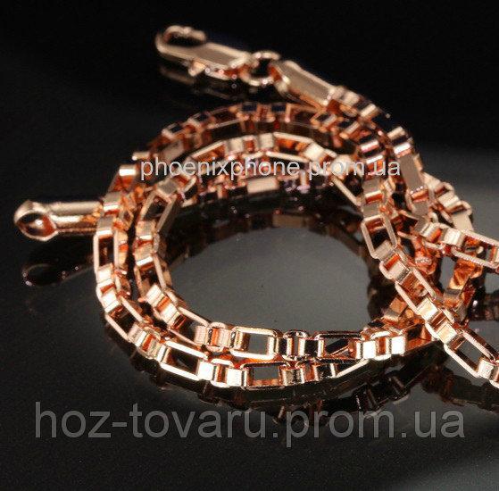 Стильная цепочка, покрытая золотом (600 мм*3 мм) (40891)
