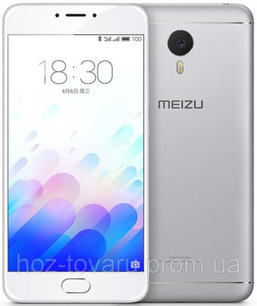 "Meizu М3 Note Silver (White) 2/16 Gb, 5.5"", 3G, 4G"