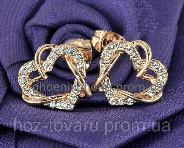 Прелестные серьги с кристаллами Swarovski, покрытые слоями золота (202260)