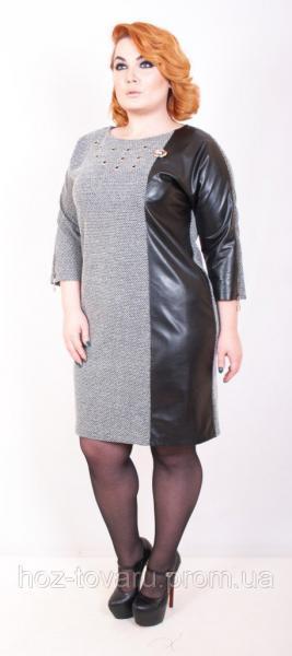 Платье большого размера Стелла 012, дропшиппинг по украине