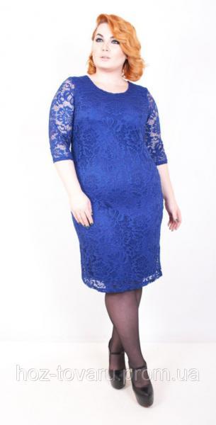 Платье большого размера Гипюр (5 цветов), нарядное платье большого размера