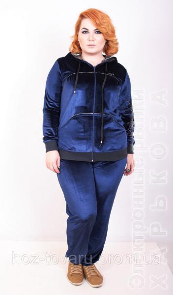 Спортивный костюм женский большого размера Велюр бата (2 цвета), велюровый костюм большого размера - Спортивные костюмы женские на рынке Барабашова