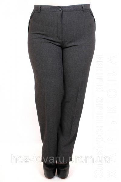 4215288b93d Женские брюки большого размера Лак серый - Брюки больших размеров на рынке  Барабашова