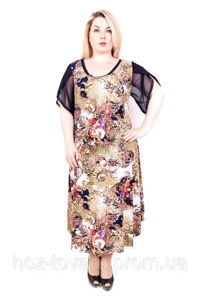 Платье большого размера Мадонна Леопард (3 цвета)