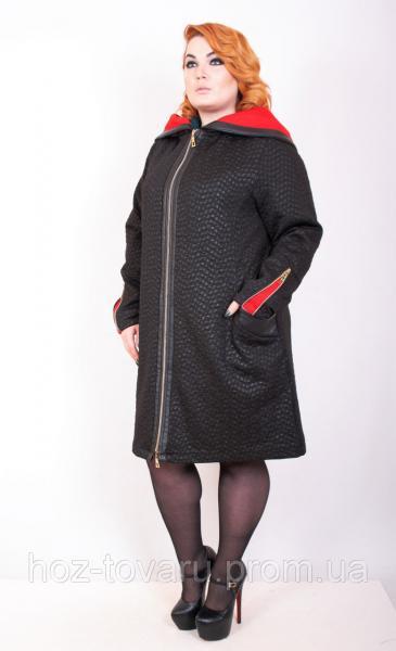 Ветровка женская большого размера Анкара 3, трикотажное пальто батал,