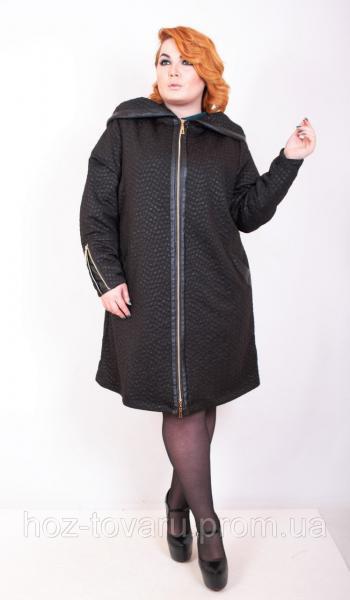 Ветровка женская большого размера Анкара 2, трикотажное пальто батал,