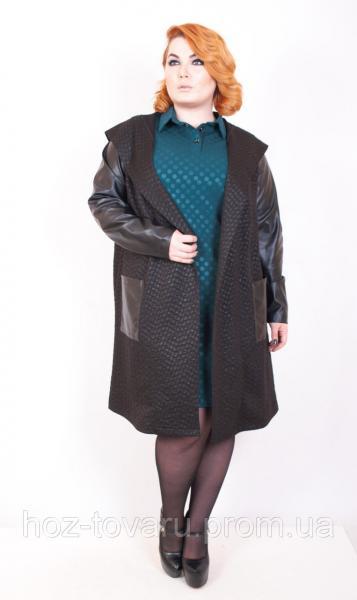 Ветровка женская большого размера Мантия, трикотажное пальто для полных