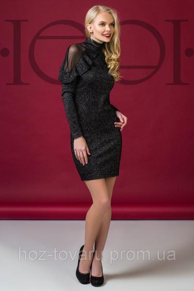 Платье коктейльное 5904, нарядное платье, платье с гипюром