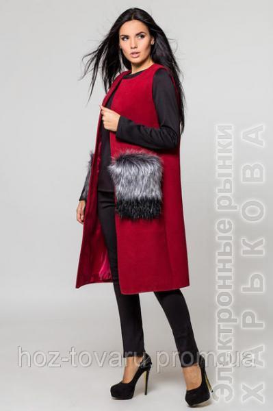 Жилет-пальто Кашемир, кашемировый жилет - Пальто женское на рынке Барабашова