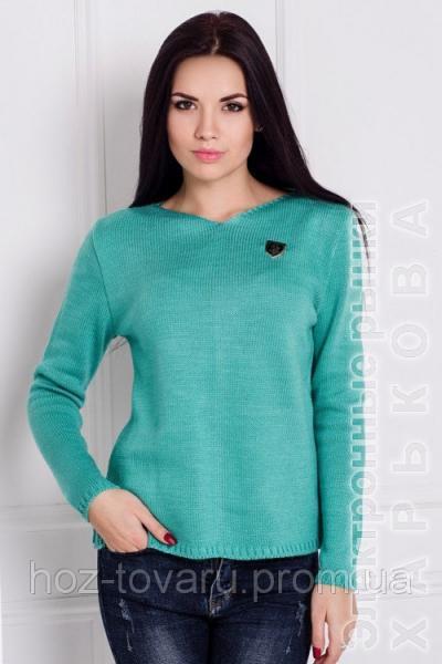 свитер женский вязанный разлетайка 6 цветов вязаный свитер от