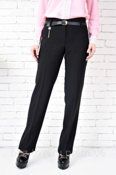 Брюки Бедро цепочка норма, классические женские брюки, черные брюки женские
