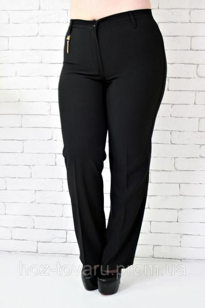 Брюки большого размера Бедро цепочка батал, классические женские брюки, черные брюки женские