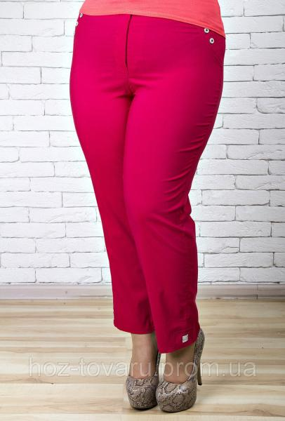 Брюки женские большого размера 7/8 018 марсала, женские летние брюки баталы