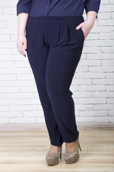 Брюки женские большого размера Грация однотон 018 (2 цвета), женские брюки баталы