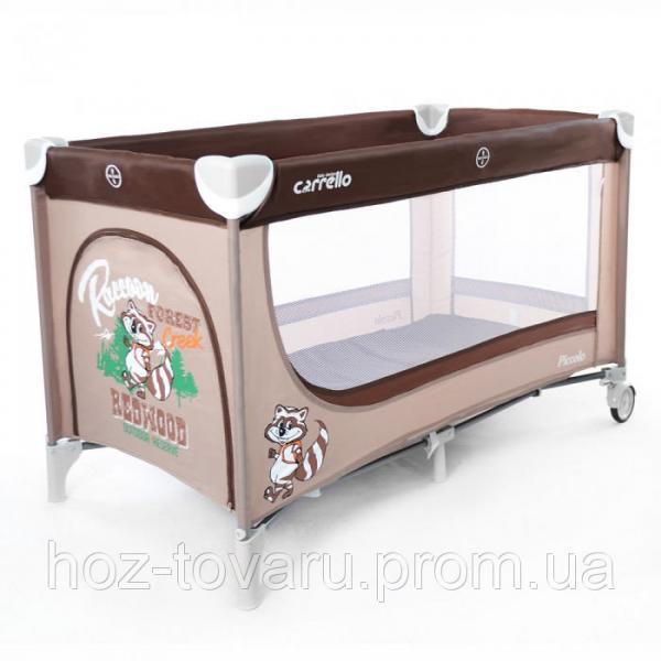 Детский манеж CARRELLO Piccolo CRL-7303 Brown+Beige