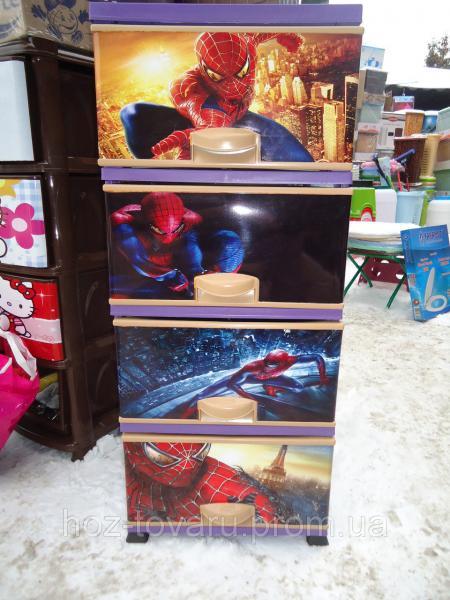 Комод пластиковый человек паук элиф