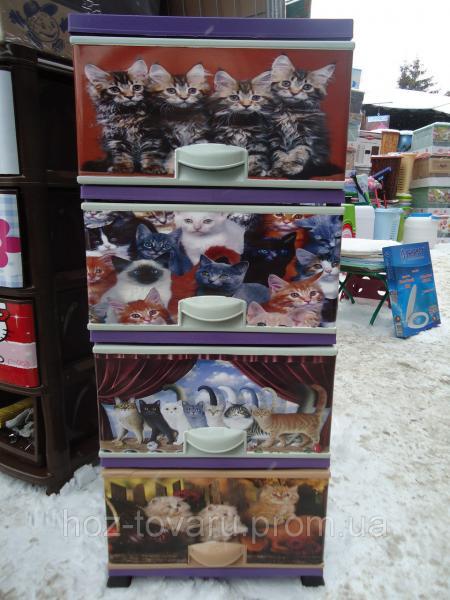 Комод пластиковый коты элиф