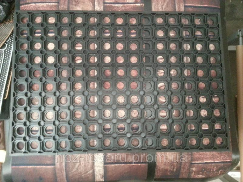 Коврик резиновый сота 2(60 см *40 см*1 см)
