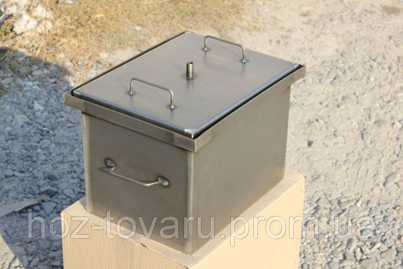 Коптильня с гидрозатвором для горячего копчения (400х310х280)