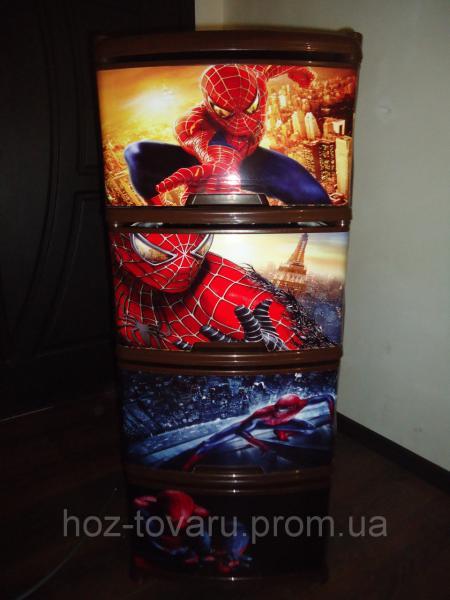 Детский пластиковый комод паук